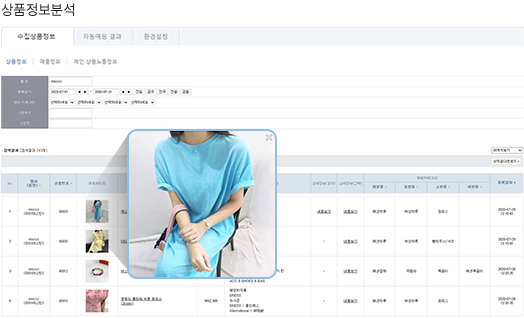 상품정보 분석